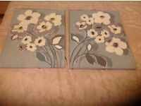 A Pair of Large Decorative NEXT Canvases