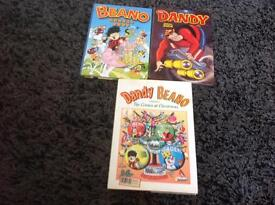 Collectable books Beano and Dandy annual s x3