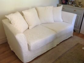 LARGE TETRAD MILAN SOFA WITH LOOSE WASHABLE CREAM COVERS