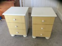 Pair of bedside tables with drawers