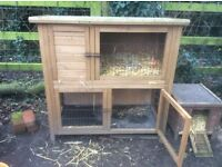 Rabbit or guinea pig hutch.