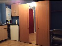Large studio available now, 2 mins to tube. Inclusive of all bills and Internet. Clean & quite.