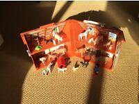 Playmobil take along farm house