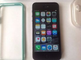 APPLE IPHONE 5 16Gb BLACK AND SLATE GREY ON ORANGE WITH NEW ACCESSORIES
