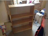 Pine effect sturdy book case - good condition