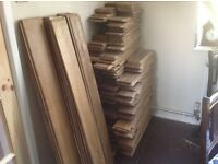 Solid oak flooring (used)