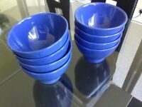 Rice/pasta dishes 8 dishes perfect condition dishwasher and microwave safe colour blue £3