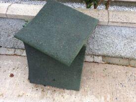 Green rubber playmats