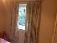 PAIR OF LINED CURTAINS FOR 1.5 metre pole 180mm drop