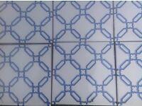 VINTAGE LAURA ASHLEY WALL TILES ~ BLUE/WHITE