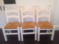 6 Solid Wood Kitchen Chairs