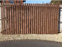 Tanalized Timber Fully Stained Gates