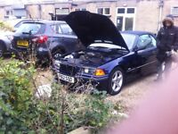 BMW e36 msport convertible midnight blue comes fully loaded all extras ie sub remapped and lots more