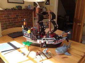 Lego duplo pirate ship, raft and shark