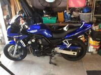 YAMAHA FZS600 FAZER 02reg Only 19,750miles 2 owners, good condition, stored in garage, very reliable