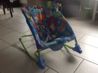 Fisher price infant to toddler rocker with calming vibrations