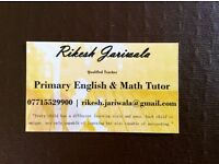 Tuition - Tutor - qualified teacher - KS1 & KS2 - SATs - English, Maths, Science and Phonics