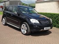 MERCEDES ML280 CDI SPORT AUTO TURBO DIESEL 2006 PLATE METALLIC BLACK (with Alloys)