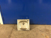 Single square sink with tap hole S.S satin
