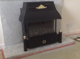Gas fire, flame effect