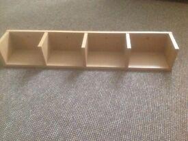 Multi storage shelf oak effect