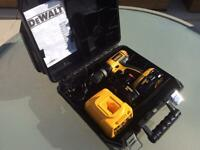DEWALT 18volt Drill set with carry case VGC