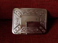 Kilt belt buckle with Celtic design