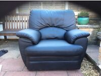 Leather electric recliner ,