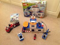 LEGO DUPLO POLICE STATION AND FIRE ENGINE