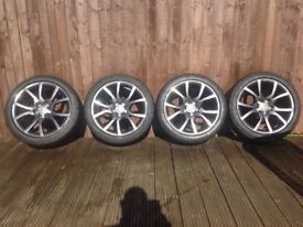"""AUDI S5/S4 GENUINE 18"""" ALLOYS WITH DUNLOP SP SPORT TYRES"""