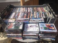 Various DVDs (approx 136) mostly films, some unused.