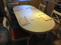 Refurbished dining table and 4 chairs