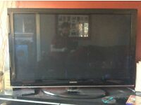 "Samsung LCD plasma TV, 50""."
