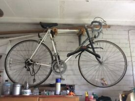 Two 1980s Raleigh drop handlebar racing style bicycles