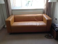Two brown IKEA sofas.Smoke free/pet free. Buyer must collect