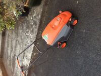 Flymo lawnmower with grass box read description