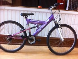 "Girls teenage Mountainbike - fully refurbished 17"" Concept Breeze: 18-speed, dual suspension"