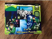 3 in 1 Ben 10Alien Force 100 piece puzzles new (all 3 bags sealed)