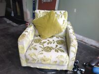DFS sofa and Swival Chair
