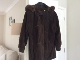 LADIES SUEDE BROWN COAT