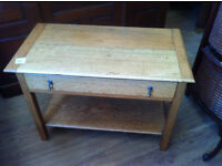 Oak Side Table, in good condition, could be used at t.v stand.
