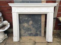 Plaster cast fire place surround