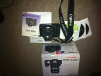 canon 500d - with original box 2 x battery charger manual ect