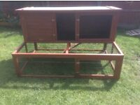 LARGE RABBIT HUTCH WITH LARGE RUN MADE BY LAZYBONES