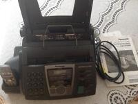 Panasonic Fax Machine with cordless phone