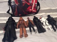 Large star wars figures for sale excellent conditiom