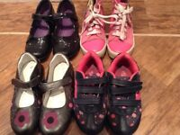 Bundle of girls shoes & trainers Geox, Clarks & Nina