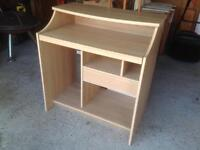 Computer desk in pine with sliding shelf