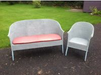 Lloyd Loom 2 seater couch and matching chair