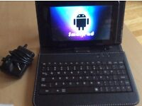 "AS NEW 7"" HD Smartpad Android Tablet (With Case, Keyboard & Mains Adapter)"